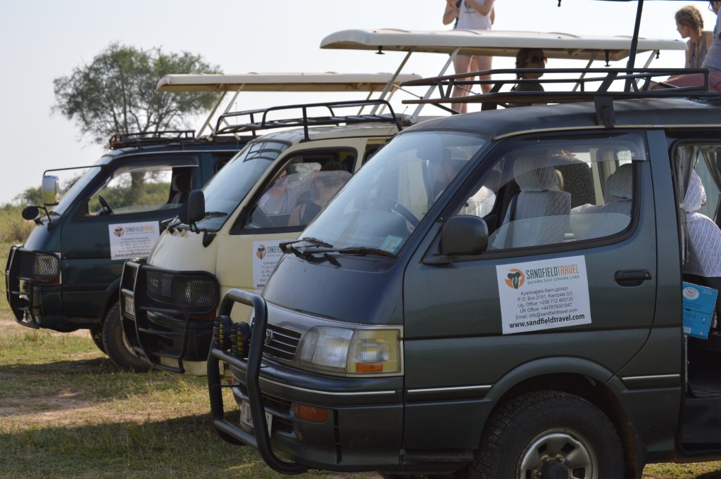 On a game drive with Sandfieldtravel in Murchison Falls National Park Uganda