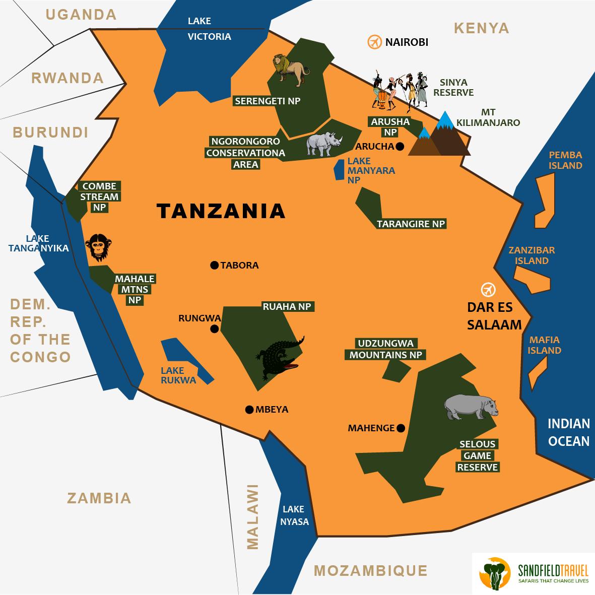 tanzania sandfield travel